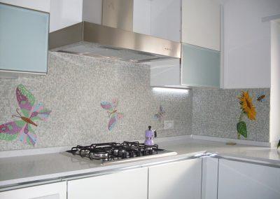 parete cucina mosaico