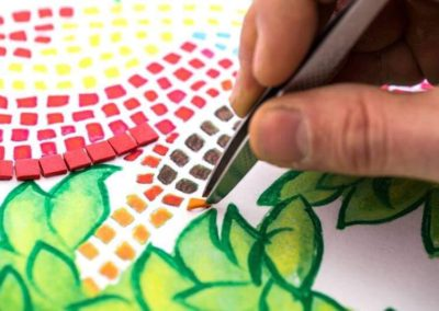 pinza mosaico