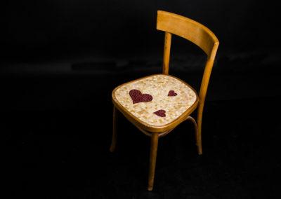 sedia mosaico cuore