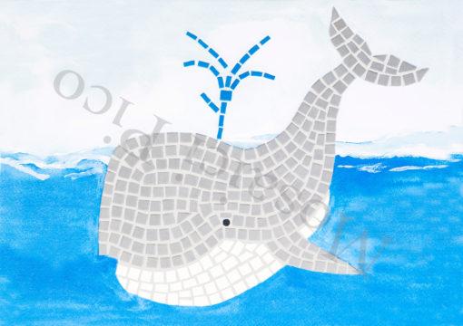 balena mosaico