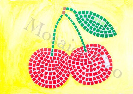 ciliegie mosaico