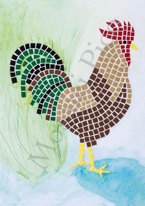 gallo mosaico