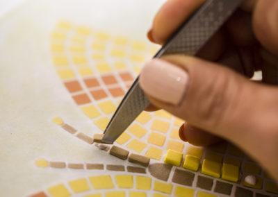 pinzetta per mosaico