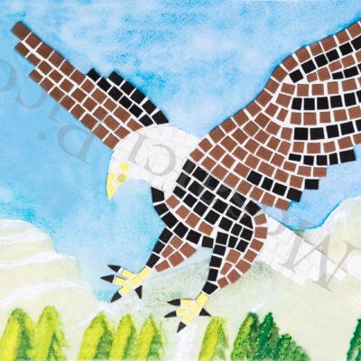 aquila mosaico