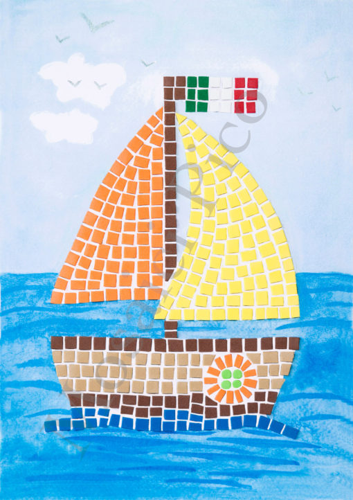 barca mosaico