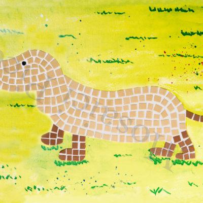bassotto mosaico