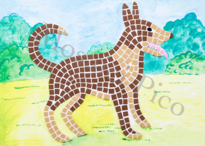 cane mosaico