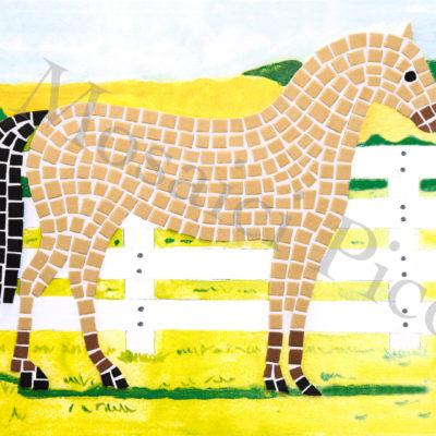 cavallo mosaico