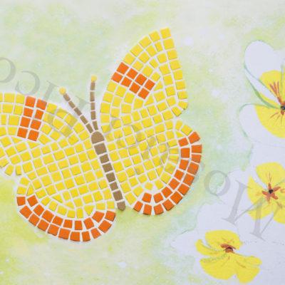 farfalla gialla mosaico