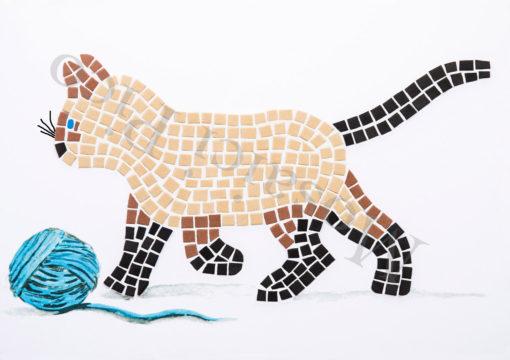 gatto mosaico